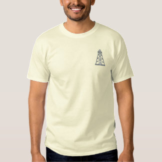 Oil Rig Embroidered T-Shirt
