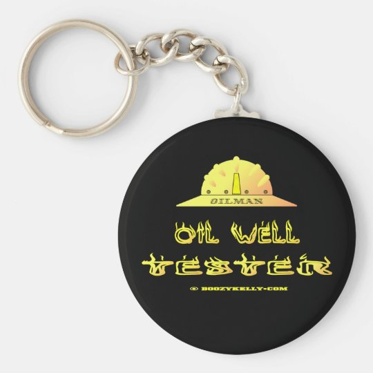 Oil Rig,Well Tester,Oil, Industry,Oilman,Gift,Rigs Basic Round Button Key Ring