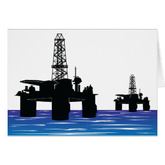 Oil Rigs Note Cards