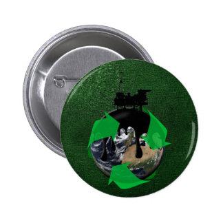 Oil Spill 6 Cm Round Badge