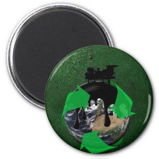 Oil Spill 6 Cm Round Magnet