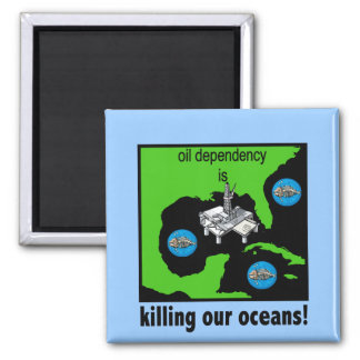 oil spill gulf of mexico square magnet