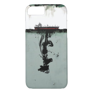 Oil spill in the sea ship iPhone 8/7 case