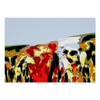 """""""Oil Spill"""" Sea of Colors Abstract Poster"""