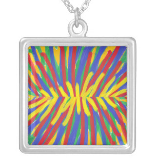 Oil Square Pendant Necklace