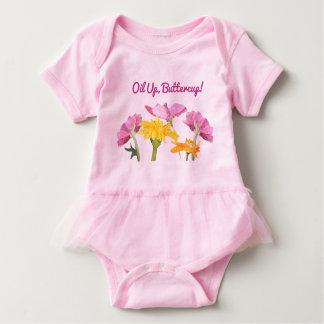 Oil Up, Buttercup! Baby Tutu Bodysuit
