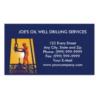 oil well drilling worker business card