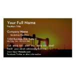 Oil well pump at sunset, Illinois, U.S.A. Pack Of Standard Business Cards
