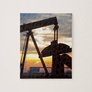 Oil Well Pump Jack Sunrise Jigsaw Puzzle