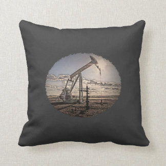 Oil Well Pumping Unit (Custom Color) Pillow