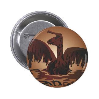 oiled brown pelican- pin