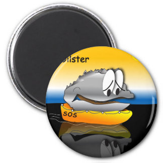 Oiled Oyster 6 Cm Round Magnet