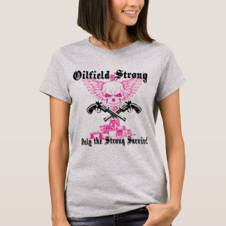 Oilfield Strong with Pistols and Wings T-Shirt