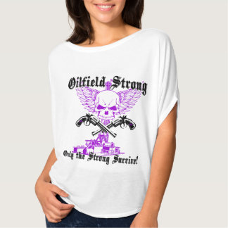 Oilfield Strong with Wings and Pistols in Purple Shirts