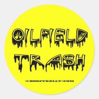 Oilfield Trash Zed pp1 use A4 using Round Sticker
