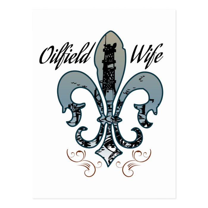 oilfield wife postcard