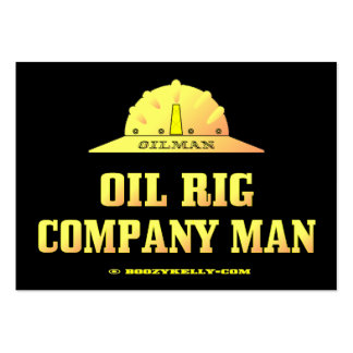 Oilman,Oil Rig Company Man,Business Cards