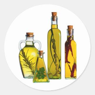 Oils Round Sticker