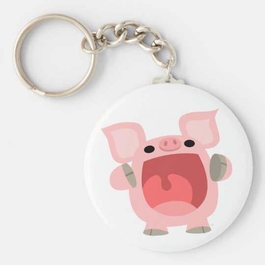 """OINK!!!"" Cute Cartoon Pig keychain"
