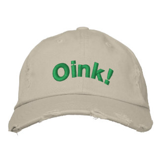 Oink! Embroidered Hat