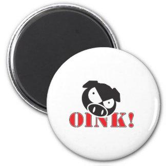OINK_GraphicReversed 6 Cm Round Magnet