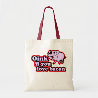 Oink if you love tote bag