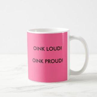 OINK LOUD! OINK PROUD!, SWINE FLU SURVIVOR BASIC WHITE MUG