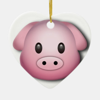Oink Oink Cute Pig Ceramic Heart Decoration