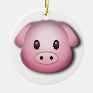 Oink Oink Cute Pig Round Ceramic Decoration