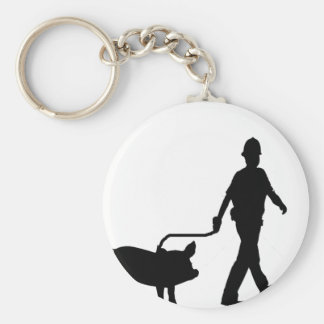 Oink Oink Basic Round Button Key Ring