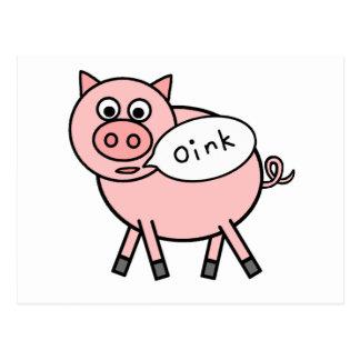 Oink Oink Pig Post Card