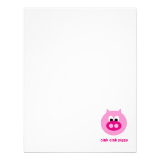 Oink Oink Piggy! Personalized Announcements