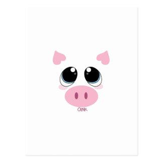 Oink Pig Postcard