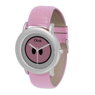 Oink piggy nose wrist watch.