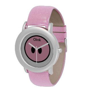 Oink piggy nose wrist watch. wrist watches