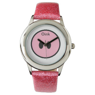 Oink piggy nose wrist watch. watch