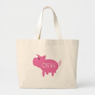 Oink Pink Pig Jumbo Tote Bag