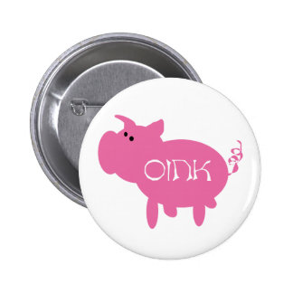 Oink Pink Pig Tshirts and Gifts Pin