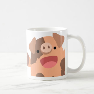 Oinky mug: a bunch of piggies coffee mug
