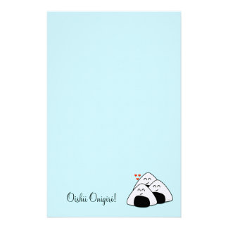 Oishii Onigiri Stationary (Pale Blue) Customised Stationery