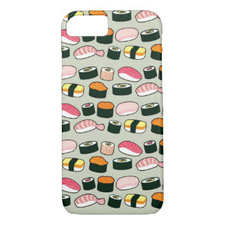 Oishii Sushi Fun Illustrations Pattern (Grey) iPhone 8/7 Case