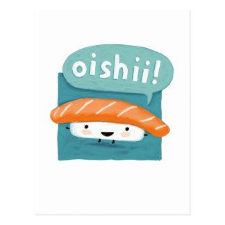 Oishii Sushi Postcard