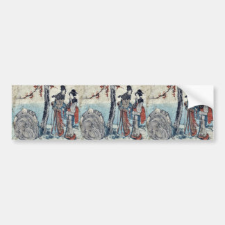 Oiso by Katsushika, Hokusai Ukiyoe Bumper Stickers