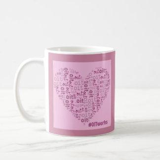 OIT works pink heart: double sided Coffee Mug