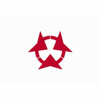 Oita Prefecture, Japan flag Acrylic Cut Outs