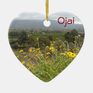 Ojai, California Ceramic Heart Decoration