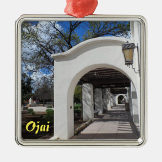 Ojai, California Silver-Colored Square Decoration