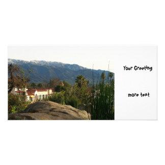 Ojai With Snow Photo Greeting Card