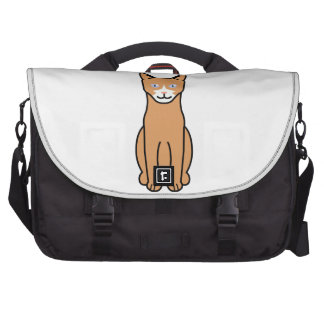 Ojos Azules Cat Cartoon Bag For Laptop