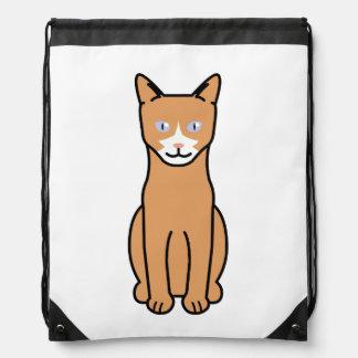Ojos Azules Cat Cartoon Cinch Bag